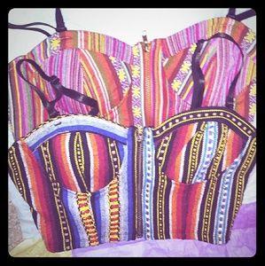 2 brand new sexy zipper front crop tops ladies med